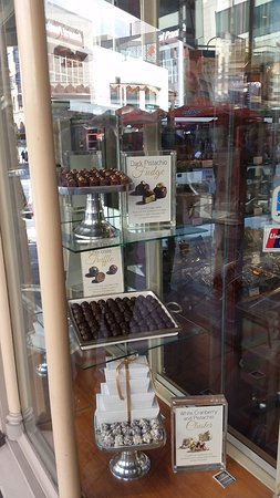 Haigh's Chocolates Beehive Corner: Mouth watering window display