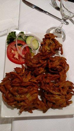 Fish Hoek, Sudafrica: Onion bhaji