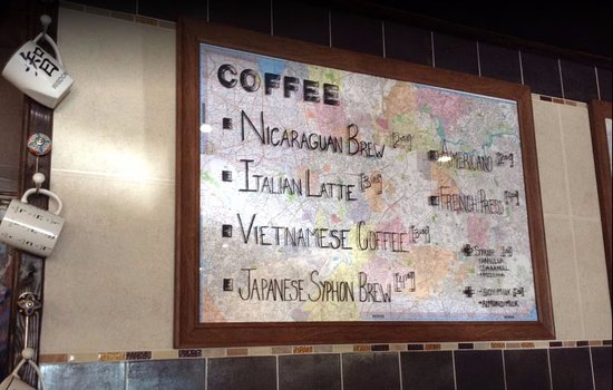 Ennis, TX: The Coffee Menu - simple enough for me!