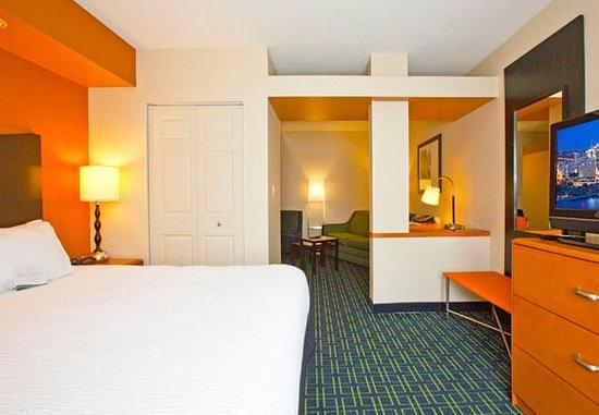 New Stanton, Pensilvania: Executive King Suite Sleeping Area