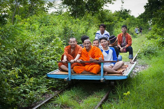 Battambang, Cambodia: Even monks need to get about
