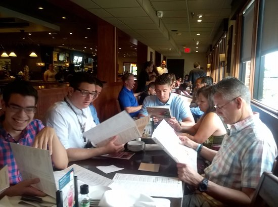 Carrabba's Italian Grill: All 44 sat comfortably by East side of the restaurant, 2 tables @ with kids & all.