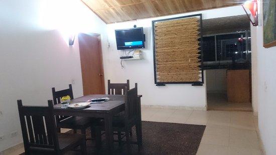 Playa Tranquilo: Area compartida por dos habitaciones