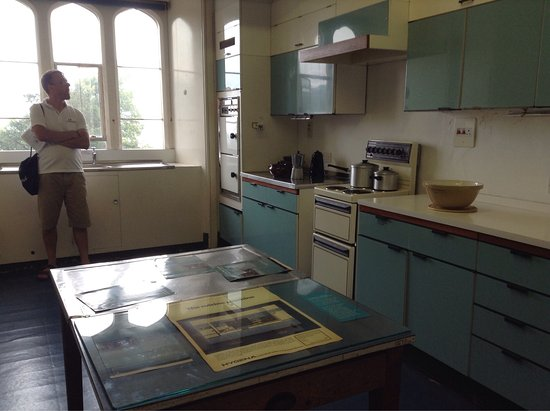 Dunster, UK: The 1950s kitchen in the castle