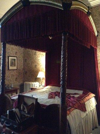 Dunster, UK: A bedroom in the castle