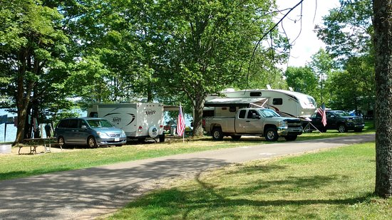 Marenisco, MI: Our travel trailer and family member's fifth wheel at Lake Gogebic, MI.