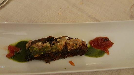 Tolox, Spain: Gevulde aubergine