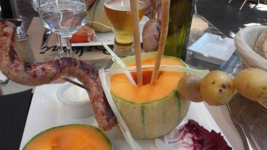 Ramonville Saint-Agne, Francia: plat du jour autour du melon