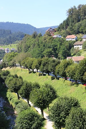 Bad Peterstal-Griesbach, Deutschland: Die Rench fliesst am Hotel vorbei, herrlich das plätschern des Baches