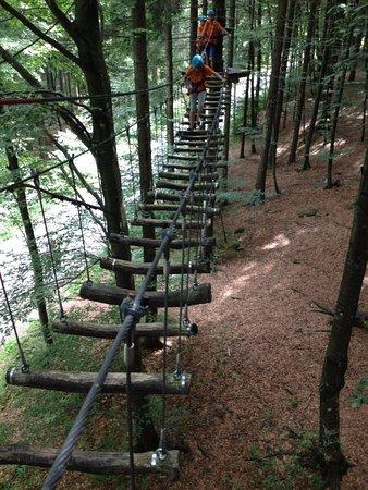 Zambla Alta, Italie : Parco Avventura Monte ALben percorso Verde