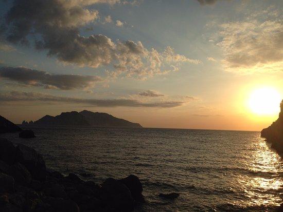 Massa Lubrense, Italie : tramonto