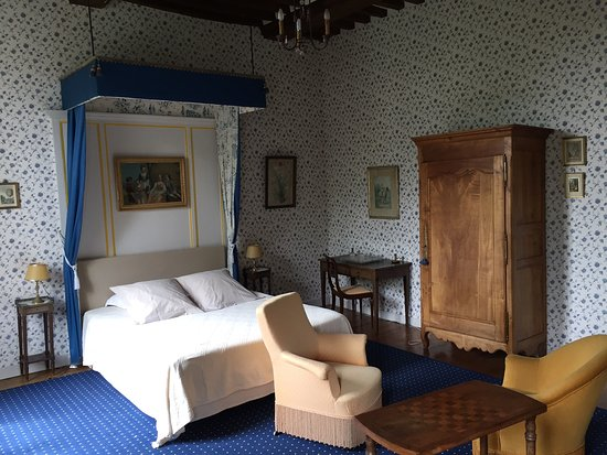 Asnieres-en-Bessin, France: Chambre Bleue