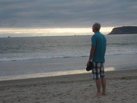 Sunset at Coronado Beach.
