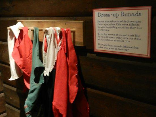 Vesterheim: kids' dress-up display