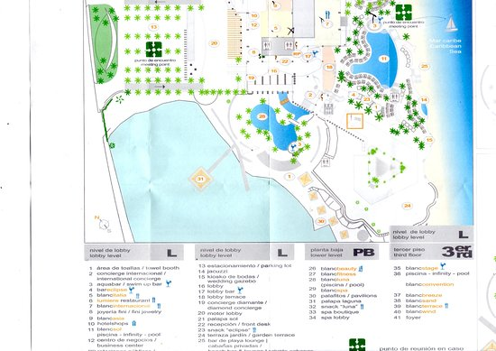 resort map - Picture of Le Blanc Spa Resort Cancun, Cancun - TripAdvisor