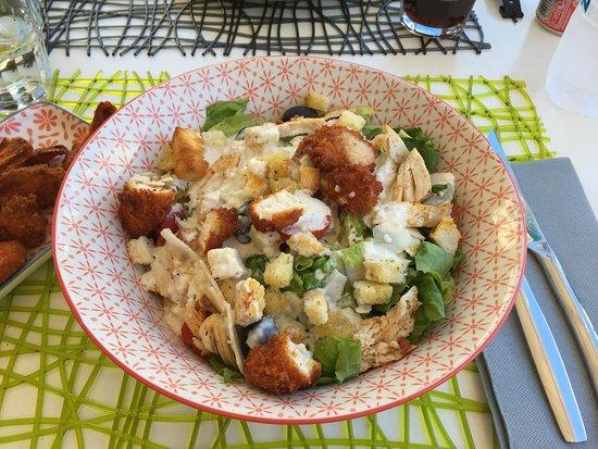 San-Nicolao, Francia: Caesar's salad