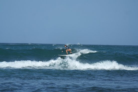 Catching waves in Tangalle with Bandula