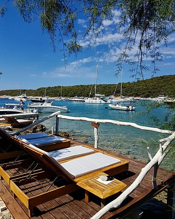 Hvar Island, Kroatië: Laganini Lounge bar & Fish House