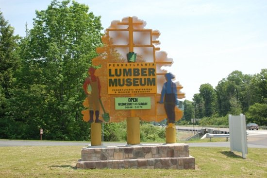 Galeton, PA: Lumber Museum sign