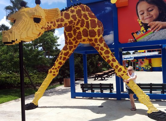LEGOLAND Florida Resort: Hugging a giraffe!