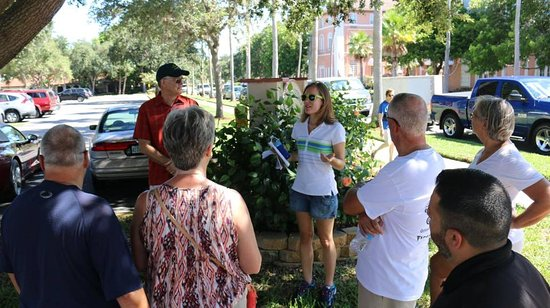 Venice, FL: Tiffany sharing history at one of the stops toward the end of the tour.  Photo provided by the C