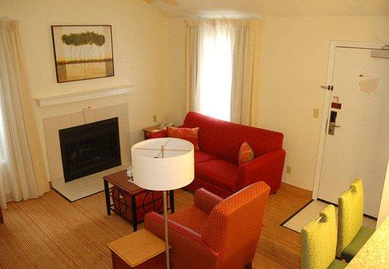 ซานมาเทโอ, แคลิฟอร์เนีย: Deluxe Penthouse Suite Living Area