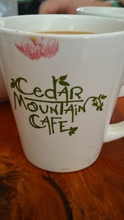 Cedar Mountain, Carolina del Norte: always a great cup of coffee