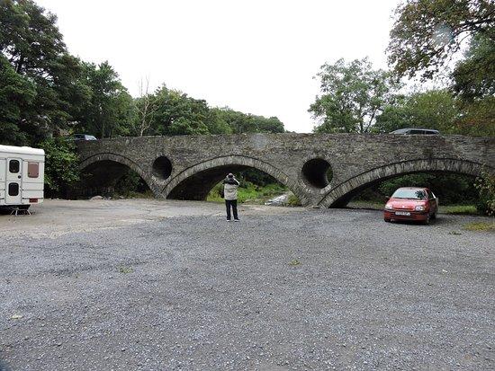 Cenarth, UK: Bridge by the Falls