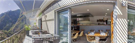 Asco, Francia: balcon du bar restaurant glacier