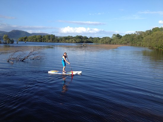 Gartocharn, UK: Paddleboarding at Portnellan Farm