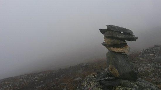 Harstad, Norge: fjelll da jeg gikk tur nattur