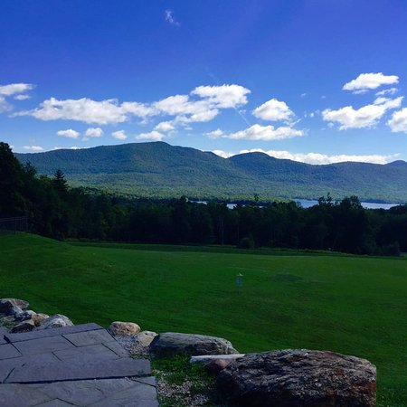 Chittenden, VT: View of the private lake from the lodge