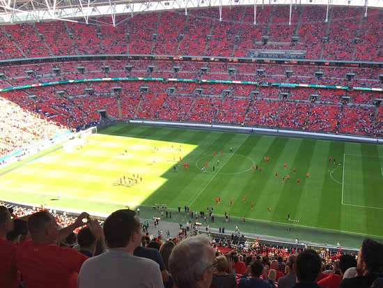 view from my top tier seat picture of wembley stadium. Black Bedroom Furniture Sets. Home Design Ideas