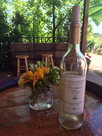 Cooper Vineyards: civilized sipper on the Cooper patio