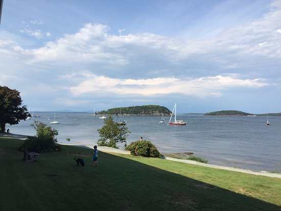 Bar Harbor Inn: View to the left towards town and Frenchman Bay.
