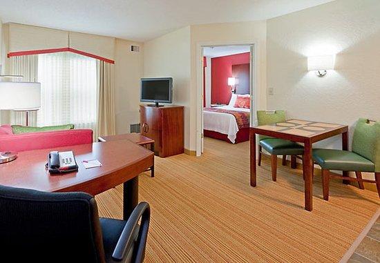 Dedham, MA: One-Bedroom Suite Living Area