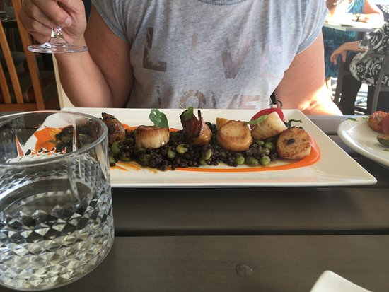 Halfmoon Bay, Kanada: scallops - delicious