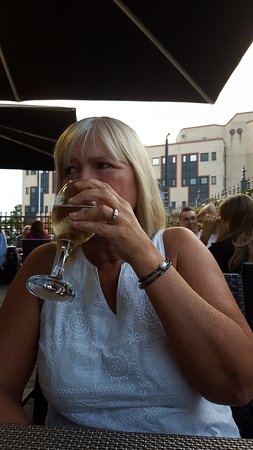 Romford, UK: my lovely wife ..enjoying a glass of wine ..