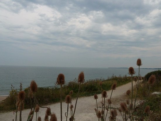 Highcliffe, UK: Pathway down to the beach