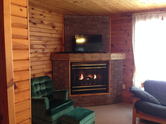 Harwood, Canada: Flat screen TV, Wi-Fi in each Cottage
