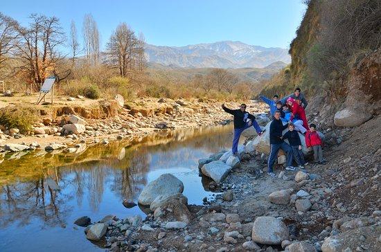 Vuelta al Pique: Primer vado viniendo desde Guanchín. Arranca la Vuelta al Pique.