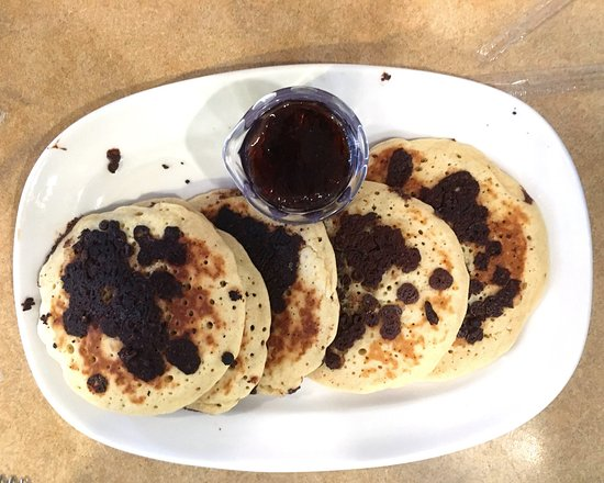 Williamsville, estado de Nueva York: Bob Evans chocolate chip pancakes