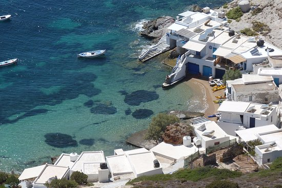 Sea Kayak Milos: Fourkovouni from above during our hike