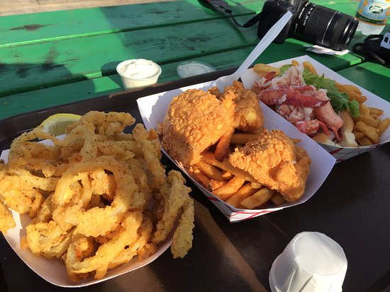 Georgetown, ME: Fresh Haddock and Onion rings