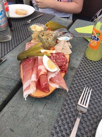 Wormeldange, Luxemburg: assiette à partager