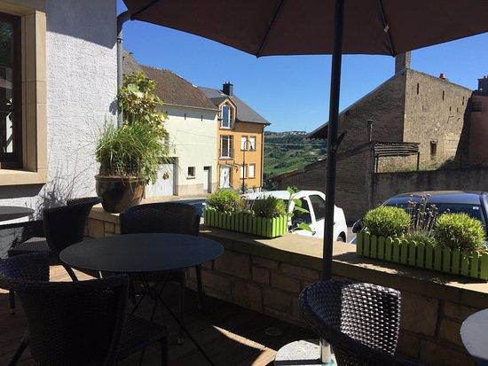 Wormeldange, Luxemburg: vue de la terrasse