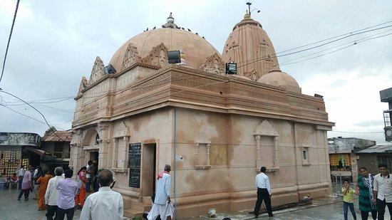 Kheda, India: Utkantheshwar mahadev mandir (swayambhu shivaling) at the bank of Patrak river, near Dehgam, Guj