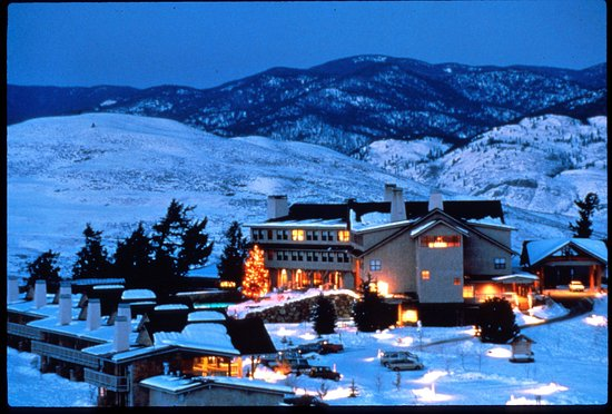 Winthrop, Ουάσιγκτον: Sun Mountain Lodge winter evening