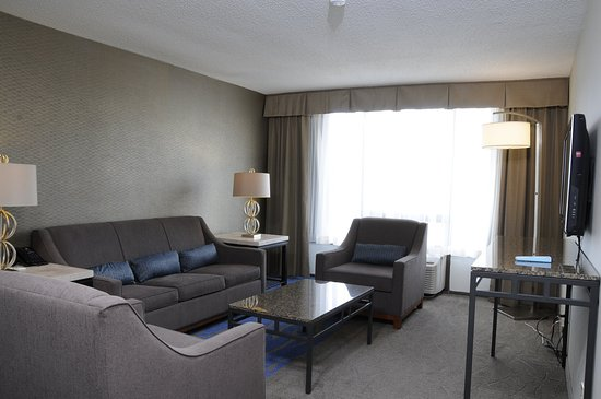 Jessup, MD: Living Area with pullout sofa bed and separate bathroom