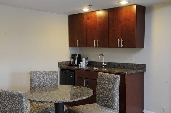 """Jessup, MD: """"Honeymoon"""" Suite wetbar area."""